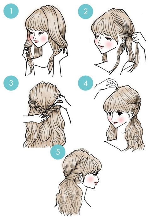 everyday anime hairstyles brilliant 3 minute hairstyles every girl should know