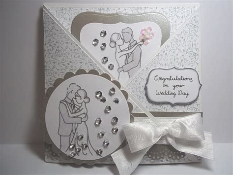 How To Make Handmade Wedding Cards - handmade wedding card idea using some gorgeous sequins