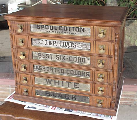 6 drawer spool cabinet j p coats 6 drawer walnut spool cabinet