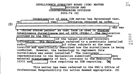 exles of pattern evidence patterns of misconduct fbi intelligence violations from