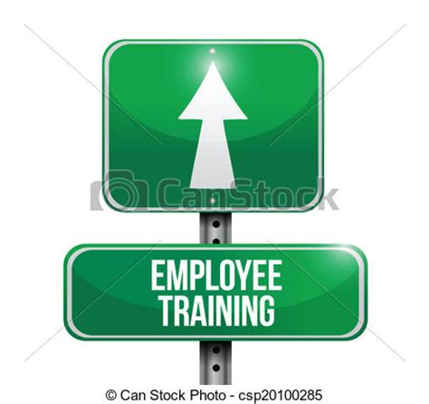 employee training in arrows stock vector of employee training street sign illustration