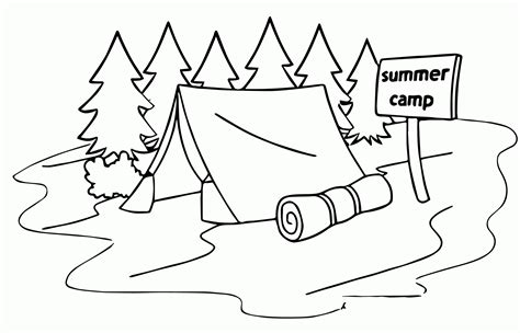 Coloring Picture Of Sleeping Bag Coloring Pages Sleeping Bag Coloring Page