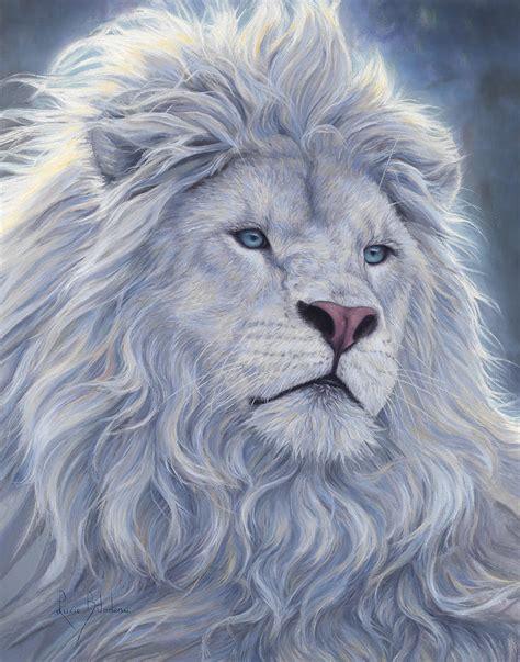 imagenes leones blancos movimiento white lion painting by lucie bilodeau