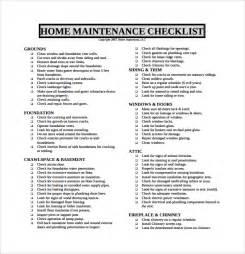 sle maintenance checklist template 9 free documents