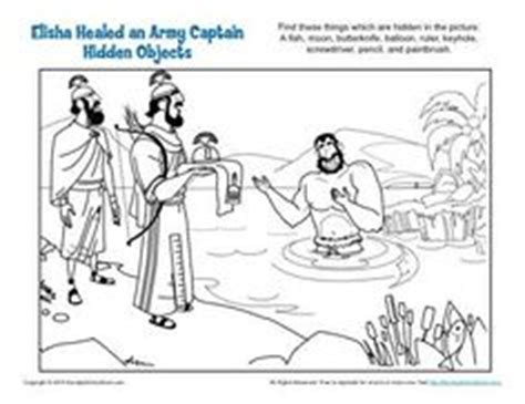 free bible coloring pages naaman 1000 images about elisha and naaman bible activities on
