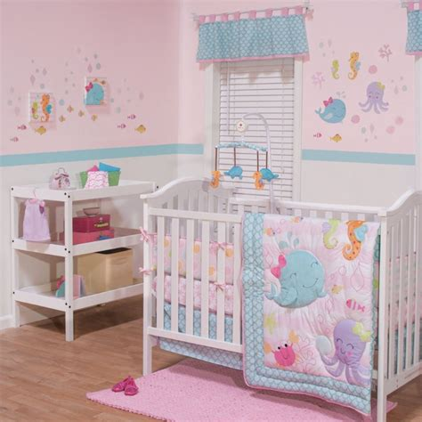 Belle Bedding Sets Sea Sweeties 3 Piece Baby Crib Bedding How To Make A Crib Bedding Set