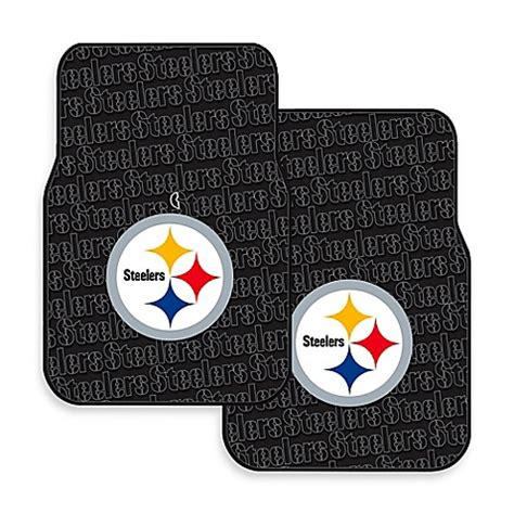 bed bath and beyond robinson nfl pittsburgh steelers rubber car mats set of 2 bed
