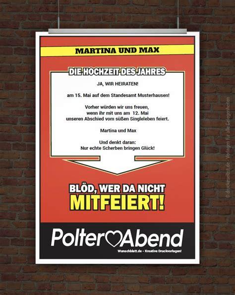 Postkarten Drucken Media Markt by Drucke Selbst Witzige Einladung Zum Polterabend