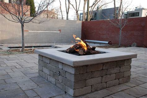 outdoor gas firepits gas outdoor pit