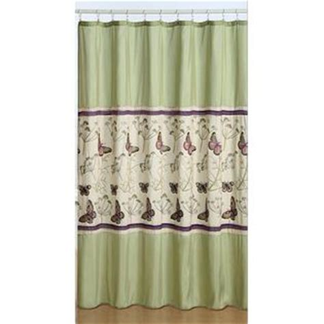 shower curtains kmart essential home butterfly fabric shower curtain home