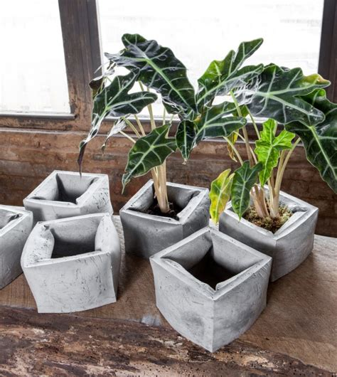 Ideas Design For Cement Planters Concept 20 Exceptional Modern Style Planter Designs