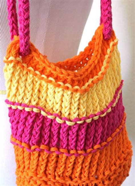 how to knit a bag on a loom 17 best ideas about knitting bags on small