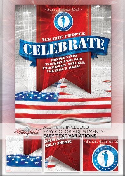 Patriotic 4th Of July Flyer Template 4th Of July Flyers Free Flyer Templates Flyer Ideas Free Patriotic Flyer Template