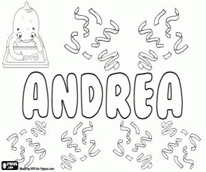 coloring pages of the name andrea colorear andrea nombre para ni 241 a