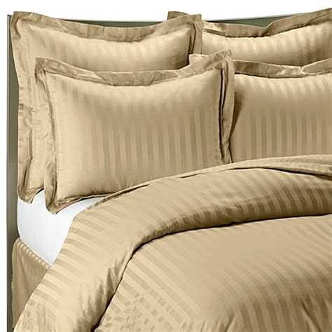 wamsutta damask comforter wamsutta 174 500 damask stripe duvet cover set in wheat bed