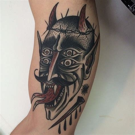 traditional devil tattoo 49 best tattoos demons devils images on