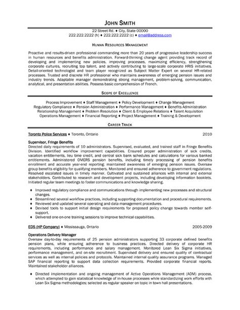 human resources resume template human resources manager resume the best site