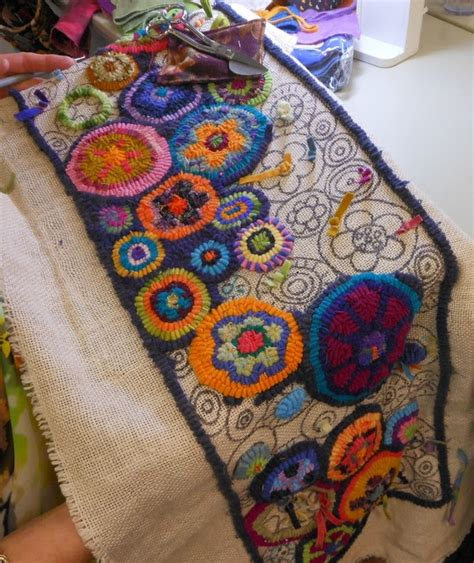 rug hooking mountain delights rug c part two