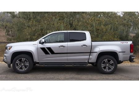 """track xl"" chevy colorado mid body line door rally accent"