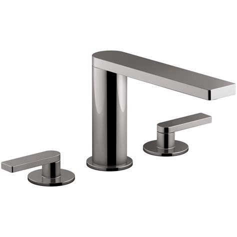 titanium bathtub kohler composed 2 handle deck mount roman tub faucet with
