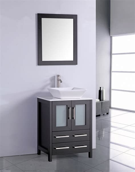 24 in bathroom vanity with sink legion 24 inch modern vessel sink bathroom vanity espresso