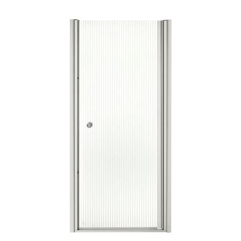 Sterling Vista Ii 31 1 4 In X 65 1 2 In Framed Pivot Pebbled Glass Shower Door