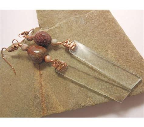 Handmade Jewellery Belfast - belfast maine sea glass earrings handcrafted copper bale