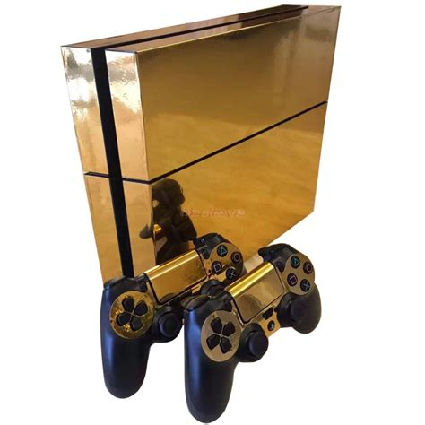 Ps4 Sticker Gold by Gold Glossy Decal Skin Sticker For Playstation 4 Ps4