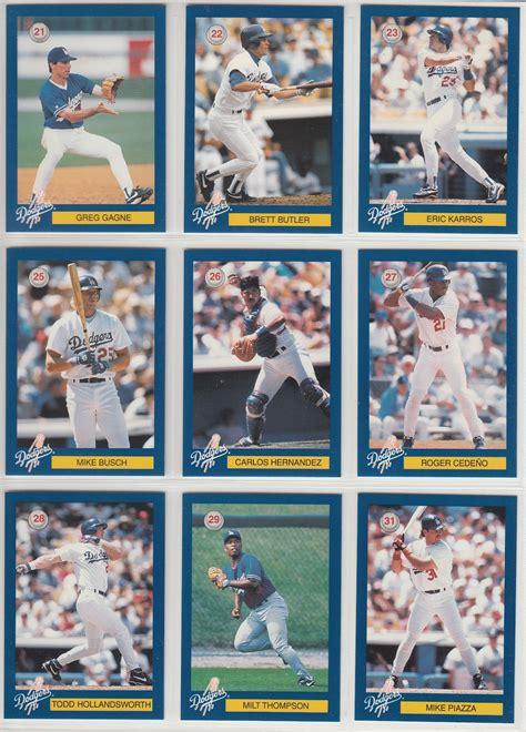 dodgers blue heaven collection  la dodgers police baseball card set