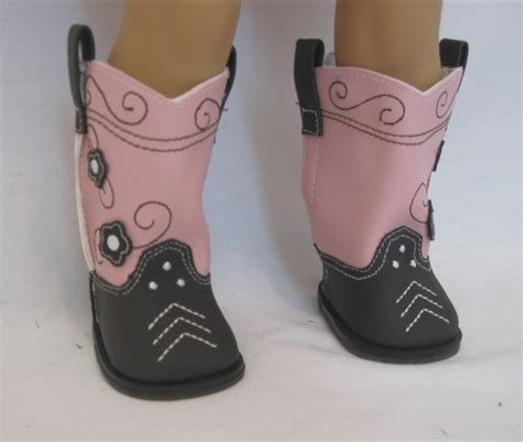 brown and pink cowboy boots cbt 14 8 99 doll