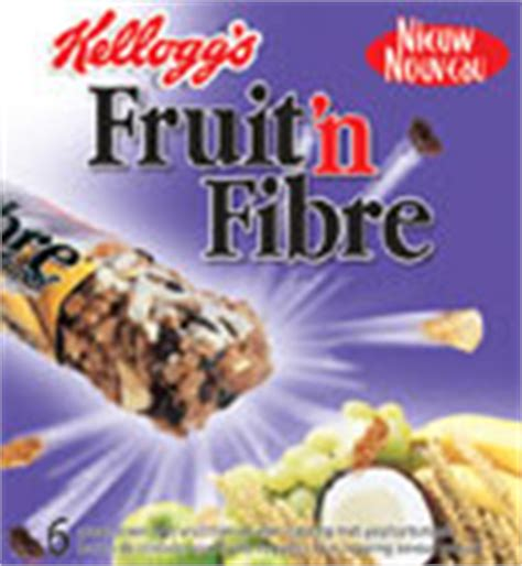 fruit n fibre calories barre de cereale kelloggs barre fruit n fibre