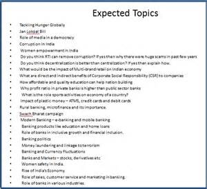 Some Topics For Essay Writing by Sbi Associated Po 2014 Tips For Descriptive Test Paper Crackaninterview