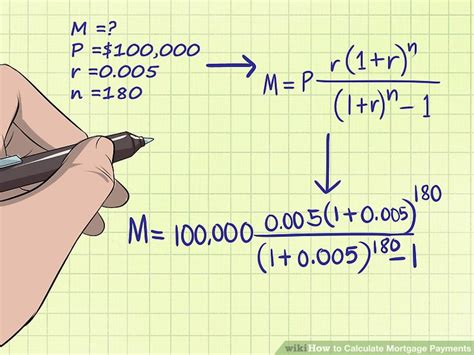 how to calculate house loan payment how to calculate mortgage payments with exles wikihow