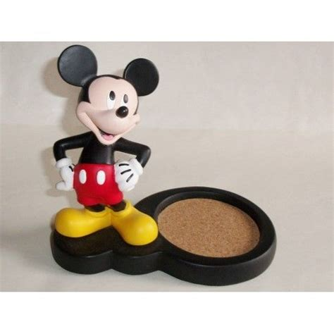 disney mickey mouse figural mug coaster stand holder for