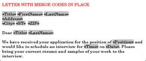 create a mail merge letter