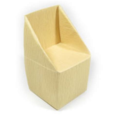 How To Make A Paper Chair - how to make origami furniture