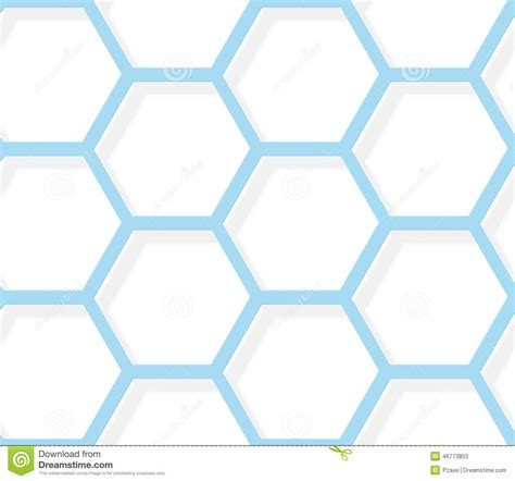 pattern white blue seamless pattern white and blue hexagonal texture stock