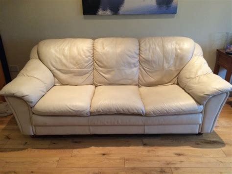 3 seater cream leather sofa cream leather sofa 3 2 seater for sale in navan meath