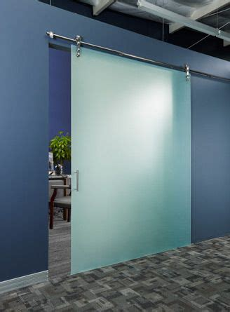 frameless glass barn doors  office project space