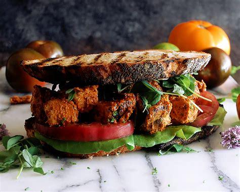 romesco grilled chicken blt sandwiches  original dish