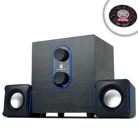 Speaker Komputer Power Up usb computer speakers with subwoofer dual satellite speakers