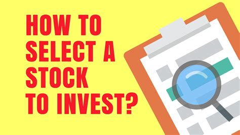 How To Invest In Bitcoin Stock by How To Select A Stock To Invest In Indian Stock Market For