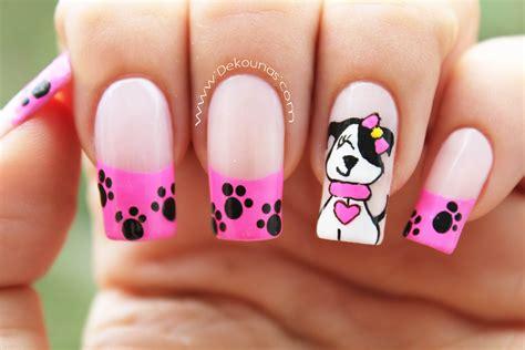 imagenes de uñas acrilicas de los minions decoraci 243 n de u 241 as perrita little poppy nail art youtube
