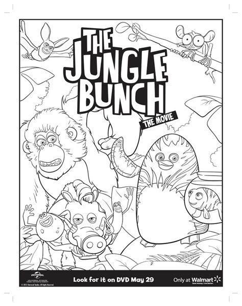 Jungle Bunch Coloring Pages   movies the jungle bunch with john lithgow on home video 5