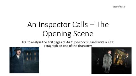 an inspector calls themes slideshare l5 annotations and pee practice ppt