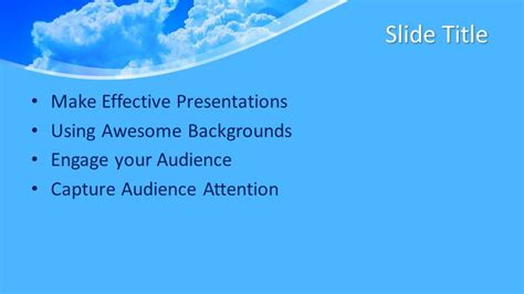 Free Air Powerpoint Template Free Powerpoint Templates Air Powerpoint Template