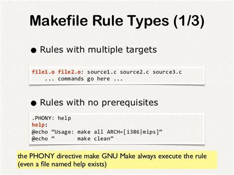 pattern rule makefile introduction to gnu make programming language