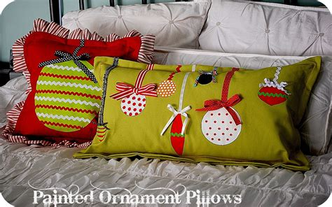 christmas project make painted ornament pillows my blog