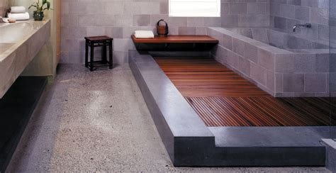 how to install a bathtub on concrete floor how to use concrete for designing a bathroom shower