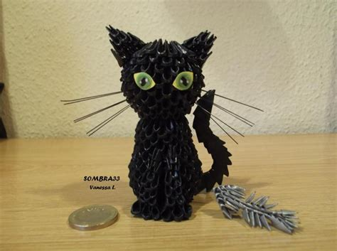 How To Make A 3d Origami Cat - blackcat jpg album 3d origami